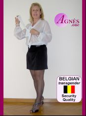 AGNÈS, the BELGIAN shemale, puts you at ease at first sight